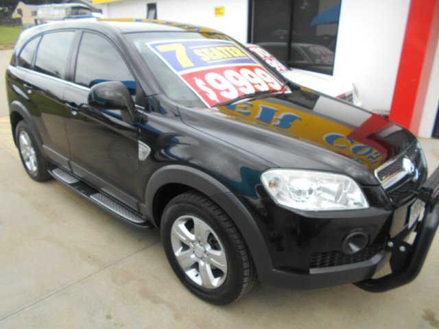 Used Holden Captiva CG MY10 SX AWD Springwood, 2010 Holden Captiva CG MY10 SX AWD Black 5 Speed Sports Automatic Wagon