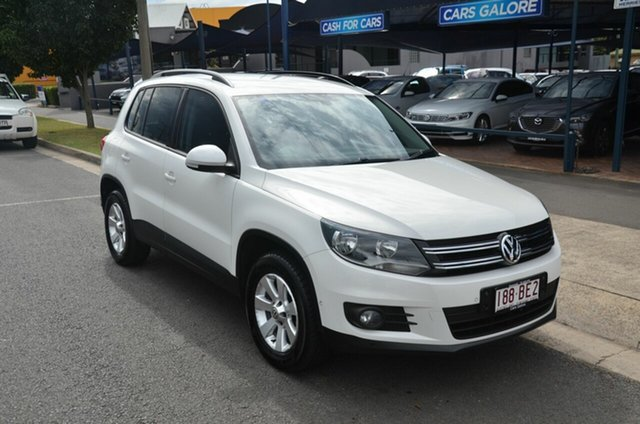 Used Volkswagen Tiguan 5NC MY14 132 TSI Pacific Toowoomba, 2013 Volkswagen Tiguan 5NC MY14 132 TSI Pacific White 7 Speed Auto Direct Shift Wagon