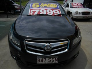 2011 Holden Cruze JG CDX Black 5 Speed Manual Sedan.