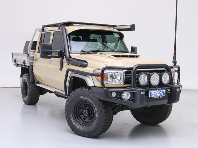 Used Toyota Landcruiser VDJ79R GXL (4x4), 2020 Toyota Landcruiser VDJ79R GXL (4x4) Sandy 5 Speed Manual Double Cab Chassis