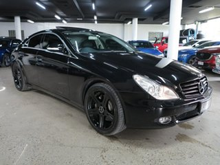 2007 Mercedes-Benz CLS-Class C219 MY08 CLS500 Coupe Black 7 Speed Sports Automatic Sedan.