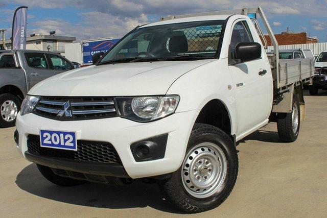 Used Mitsubishi Triton MN MY12 GLX 4x2 Coburg North, 2012 Mitsubishi Triton MN MY12 GLX 4x2 White 4 Speed Automatic Cab Chassis
