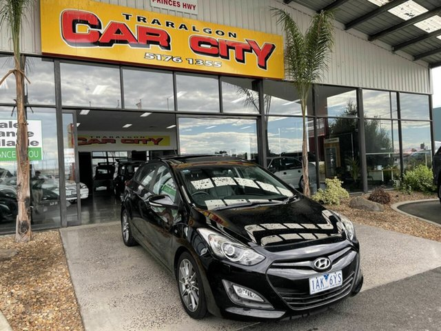 Used Hyundai i30 GD MY14 SR Traralgon, 2013 Hyundai i30 GD MY14 SR Black 6 Speed Manual Hatchback