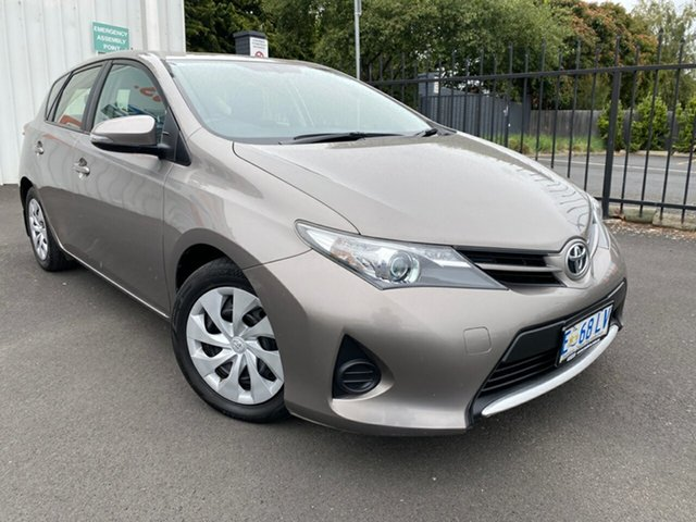 Used Toyota Corolla ZRE182R Ascent S-CVT Glenorchy, 2013 Toyota Corolla ZRE182R Ascent S-CVT Bronze 7 Speed Constant Variable Hatchback