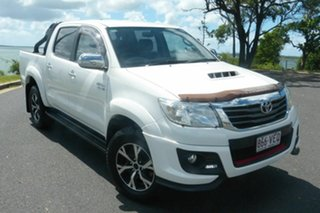 2014 Toyota Hilux KUN26R MY14 Black Double Cab Limited Edition White 5 Speed Manual Utility.
