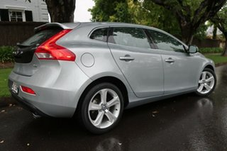 2013 Volvo V40 M Series MY14 T4 Adap Geartronic Luxury Silver 6 Speed Sports Automatic Hatchback.