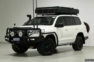 2019 Toyota Landcruiser VDJ200R LC200 VX (4x4) Crystal Pearl 6 Speed Automatic Wagon.