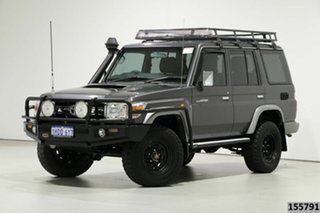2014 Toyota Landcruiser VDJ76R MY12 Update GXL (4x4) Grey 5 Speed Manual Wagon.