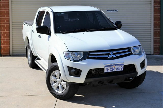 Used Mitsubishi Triton MN MY15 GLX Double Cab Mount Lawley, 2015 Mitsubishi Triton MN MY15 GLX Double Cab White 5 Speed Manual Utility