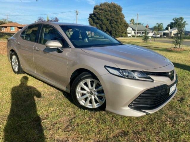 Used Toyota Camry Wangaratta, 2019 Toyota Camry Camry Ascent 2.5L Petrol Automatic Sedan Steel Blonde Automatic Sedan