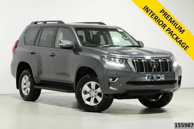 Used Toyota Landcruiser GDJ150R MY18 Prado GXL (prem Int) (4x4) Bentley, 2019 Toyota Landcruiser GDJ150R MY18 Prado GXL (prem Int) (4x4) Grey 6 Speed Automatic Wagon