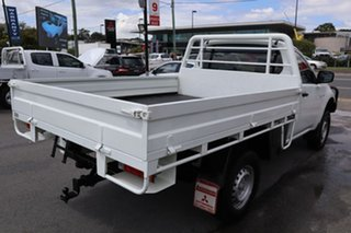 2014 Mitsubishi Triton MN MY15 GLX 4x2 White 5 Speed Manual Cab Chassis.