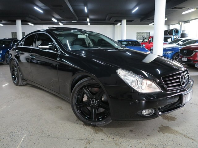 Used Mercedes-Benz CLS-Class C219 MY08 CLS500 Coupe Albion, 2007 Mercedes-Benz CLS-Class C219 MY08 CLS500 Coupe Black 7 Speed Sports Automatic Sedan