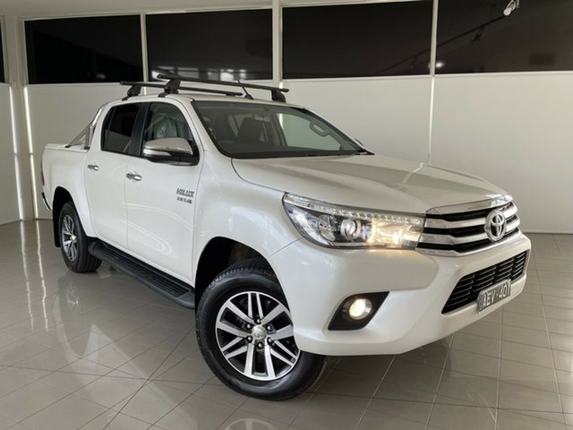 Used Toyota Hilux GUN126R SR5 Double Cab Deer Park, 2015 Toyota Hilux GUN126R SR5 Double Cab White 6 Speed Sports Automatic Utility