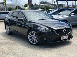 2013 Mazda 6 GJ1031 GT SKYACTIV-Drive Black 6 Speed Sports Automatic Wagon.