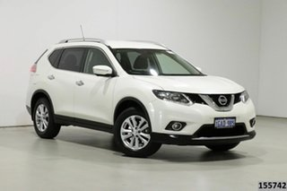 2016 Nissan X-Trail T32 ST-L 7 Seat (FWD) White Continuous Variable Wagon.