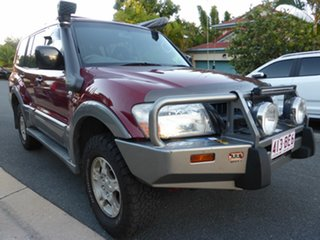 2003 Mitsubishi Pajero NP GLS LWB (4x4) Red & Silver 5 Speed Auto Sports Mode Wagon