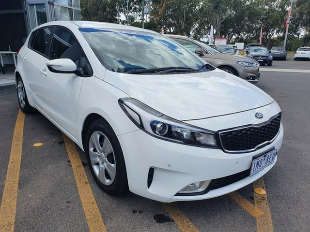 Used Kia Cerato BD MY19 S Epsom, 2018 Kia Cerato BD MY19 S White 6 Speed Sports Automatic Hatchback