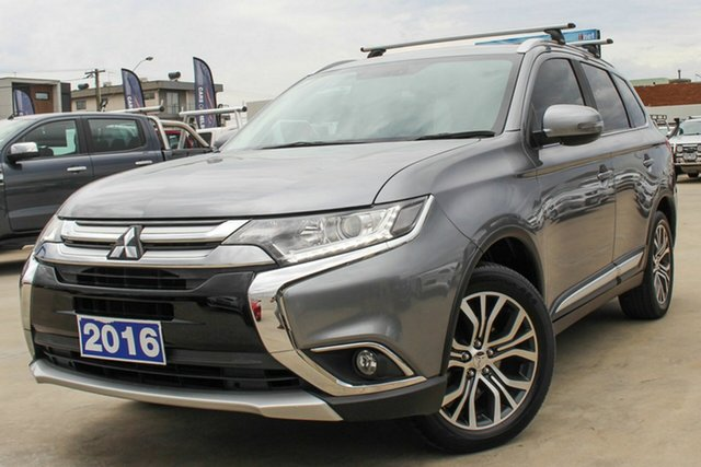 Used Mitsubishi Outlander ZK MY16 XLS 2WD Coburg North, 2016 Mitsubishi Outlander ZK MY16 XLS 2WD Grey 6 Speed Constant Variable Wagon