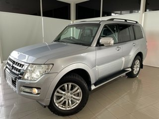 2016 Mitsubishi Pajero NX MY17 GLS Silver, Chrome 5 Speed Sports Automatic Wagon.