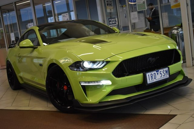 Used Ford Mustang FN 2019MY GT Essendon Fields, 2019 Ford Mustang FN 2019MY GT Green 10 Speed Sports Automatic Fastback
