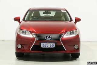 2013 Lexus ES 300h AVV60R Luxury Red 6 Speed CVT Auto Sequential Sedan.