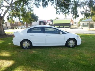 2009 Honda Civic 8th Gen Hybrid White Constant Variable Sedan.