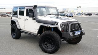 2007 Jeep Wrangler JK Unlimited Rubicon White 4 Speed Automatic Softtop.