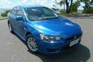 2010 Mitsubishi Lancer CJ MY10 Activ Blue 5 Speed Manual Sedan.