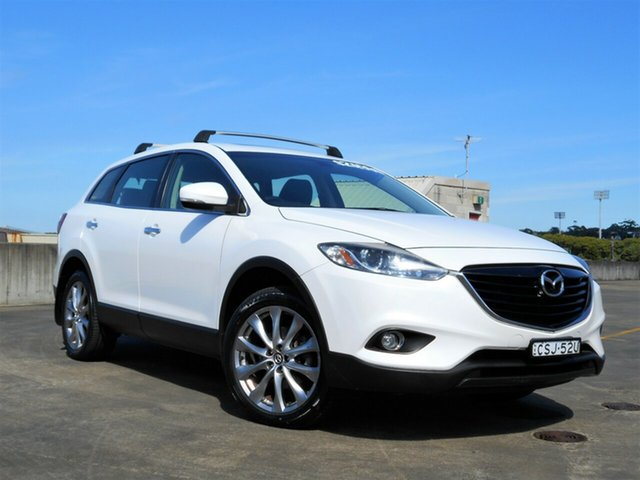 Used Mazda CX-9 TB10A5 MY14 Luxury Activematic Brookvale, 2013 Mazda CX-9 TB10A5 MY14 Luxury Activematic White 6 Speed Sports Automatic Wagon