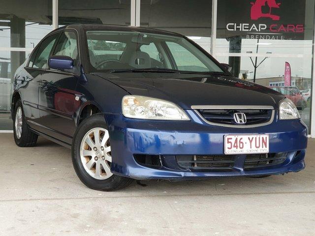 Used Honda Civic 7th Gen MY2003 GLi Brendale, 2003 Honda Civic 7th Gen MY2003 GLi Blue 4 Speed Automatic Sedan