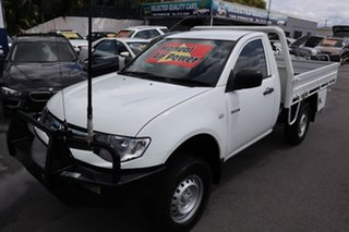 2014 Mitsubishi Triton MN MY15 GLX 4x2 White 5 Speed Manual Cab Chassis