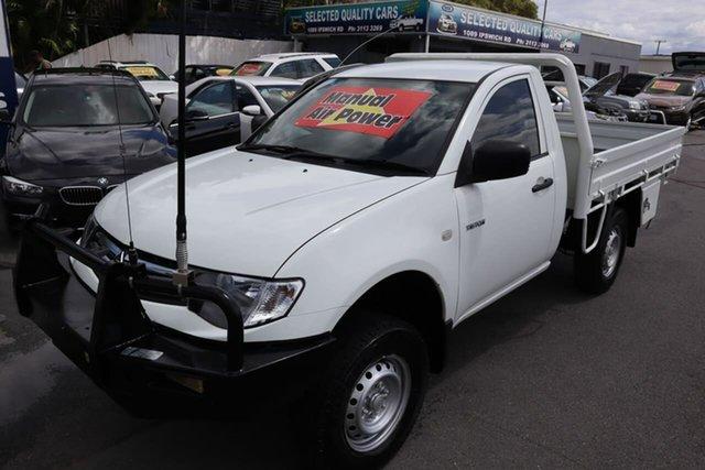 Used Mitsubishi Triton MN MY15 GLX 4x2 Moorooka, 2014 Mitsubishi Triton MN MY15 GLX 4x2 White 5 Speed Manual Cab Chassis