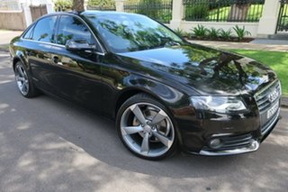 2010 Audi A4 B8 MULTITRONIC 8SP Black Automatic.