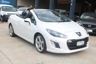 2012 Peugeot 308 11 Upgrade CC Allure Turbo White 6 Speed Automatic Cabriolet.