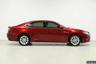 2013 Lexus ES 300h AVV60R Luxury Red 6 Speed CVT Auto Sequential Sedan