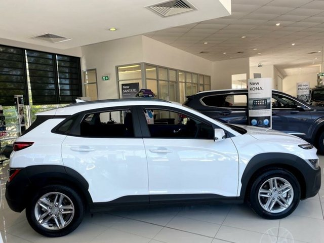 Demo Hyundai Kona Os.v4 MY21 2WD Springwood, 2021 Hyundai Kona Os.v4 MY21 2WD Atlas White 8 Speed Constant Variable Wagon