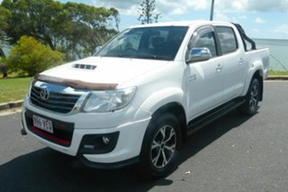 2014 Toyota Hilux KUN26R MY14 Black Double Cab Limited Edition White 5 Speed Manual Utility