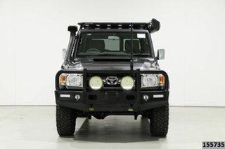 2019 Toyota Landcruiser VDJ76R GXL (4x4) Graphite 5 Speed Manual Wagon.
