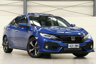 2018 Honda Civic 10th Gen MY18 RS Brilliant Sporty Blue 1 Speed Constant Variable Hatchback.