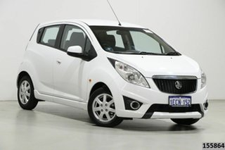 2011 Holden Barina Spark MJ CD White 5 Speed Manual Hatchback.