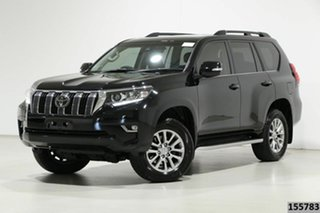 2019 Toyota Landcruiser Prado GDJ150R Kakadu (4x4) Black 6 Speed Automatic Wagon.