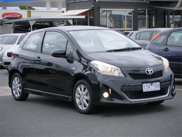 Used Toyota Yaris NCP131R ZR Cheltenham, 2011 Toyota Yaris NCP131R ZR Black 5 Speed Manual Hatchback