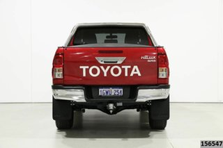 2019 Toyota Hilux GUN126R MY19 Upgrade SR5 (4x4) Red 6 Speed Automatic Double Cab Pick Up