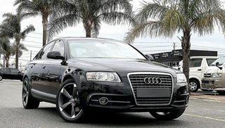 2011 Audi A6 4F MY11 Multitronic Black 1 Speed Constant Variable Sedan.