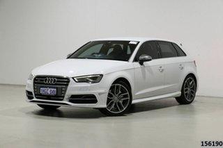 2014 Audi S3 8V MY14 2.0 TFSI Quattro White 6 Speed Direct Shift Hatchback.