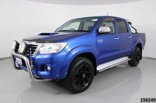 2014 Toyota Hilux KUN26R MY14 SR5 (4x4) Blue 5 Speed Automatic Dual Cab Pick-up.