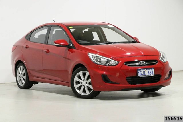 Used Hyundai Accent RB4 MY17 Active Bentley, 2017 Hyundai Accent RB4 MY17 Active Red 6 Speed CVT Auto Sequential Sedan