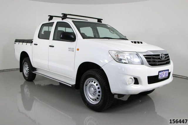 Used Toyota Hilux KUN26R MY14 SR (4x4) Bentley, 2014 Toyota Hilux KUN26R MY14 SR (4x4) White 5 Speed Automatic Dual Cab Pick-up