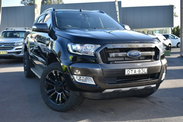 Used Ford Ranger PX MkII Wildtrak Double Cab Tuggerah, 2017 Ford Ranger PX MkII Wildtrak Double Cab Black 6 Speed Sports Automatic Utility
